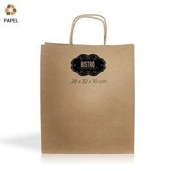 Bolsa Papel Cention 28 x 32 x 10 cm - 90g